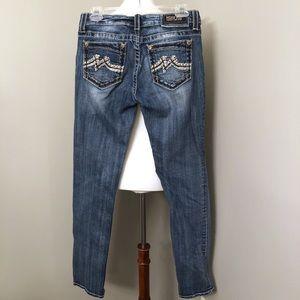 Miss Me Embellished Skinny Jeans Size 28